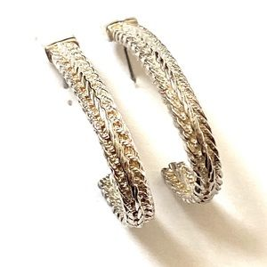 Premier Designs Hoop Earrings silver vintage